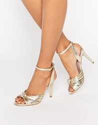 Faith Dancing Knot Detail Sandals Gold