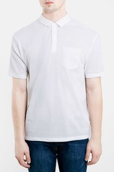 Topman Textured Mesh Polo White