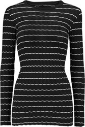 Enza Costa Ribbed Knit Cotton And Cashmere Blend Top Black