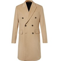 Hardy Amies Double Breasted Cashmere Coat Camel