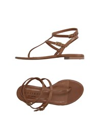 Orciani Footwear Thong Sandals Women Black