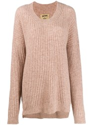 Uma Wang Ribbed Knit Sweater Neutrals