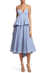 Milly Women's Melody Peplum Midi Dress