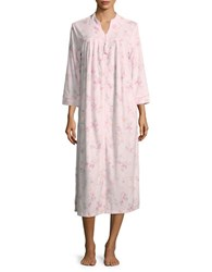 Miss Elaine Floral Mumu Duster Robe Pink