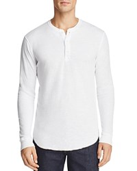 Goodlife Double Layer Long Sleeve Henley White