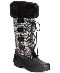 Inc International Concepts Lorinah Tweed Boots Only At Macy's Women's Shoes Pink Multi