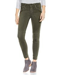 Vince Camuto D Luxe Moto Skinny Jeans In Army Green Military Green