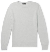 A.P.C. Colin Wool And Cotton Blend Sweater Gray