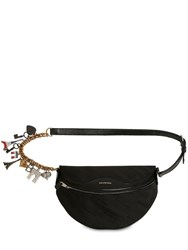 Balenciaga Jacquard And Leather Belt Pack W Charms Black