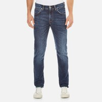 Edwin Men's Ed 85 Slim Tapered Drop Crotch Jeans Contrast Clean Wash Blue