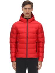 Emporio Armani Hooded Mountain Down Jacket Red