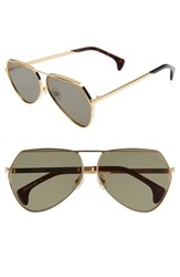 Wildfox Couture Taj 62Mm Oversize Aviator Sunglasses Gold G 15 Solid Gold G 15 Solid