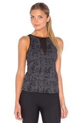 Solow Embossed Sport Tank Charcoal