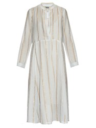 Rachel Comey New Hue Jacquard Midi Dress Light Blue