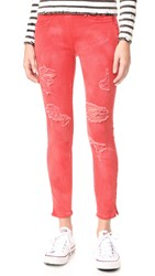 True Religion Runway Legging Crop Jeans Ruby Red