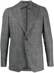 Tagliatore Check Pattern Single Breasted Blazer 60