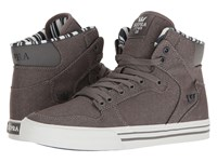 Supra Vaider Grey Denim White Skate Shoes Gray