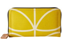 Orla Kiely Giant Linear Stem Big Zip Wallet Dandelion Wallet Handbags Yellow