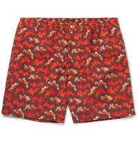 Tod's Mid Length Printed Swim Shorts Red