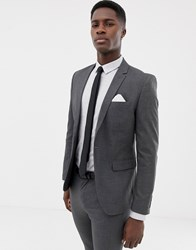 Only And Sons Skinny Suit Jacket Grey