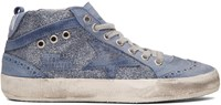 Golden Goose Blue Glitter Mid Star Sneakers