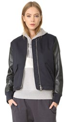 Tim Coppens Ma 1 Laced Bomber Jacket Navy