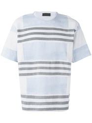 Diesel Black Gold Striped T Shirt White