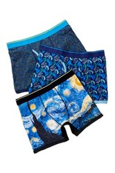 Bottoms Out Starry Night Brief 3 Pack Multi