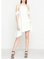 C Meo Collective Have It All Drop Shoulder Ruffle Dress Ivory