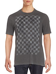 Cult Of Individuality Checkerboard Graphic Tee Faded Black