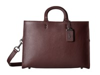 Coach Rouge Brief In Glovetan Leather New Oxblood Briefcase Bags Brown