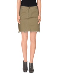 Denim And Supply Ralph Lauren Mini Skirts Military Green