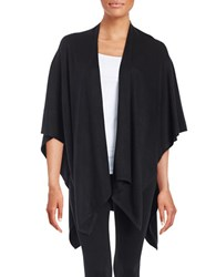 Echo Knit Poncho Black