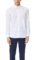 The Kooples Point Collar Stretch Shirt White
