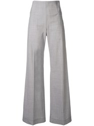 Taylor Outline Joust High Waisted Trousers Grey