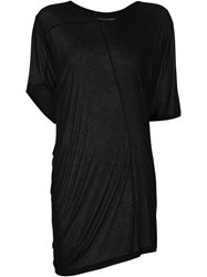 Alexandre Plokhov Side Drape T Shirt Black