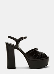 Saint Laurent Candy 80 Bow Platform Sandals Black