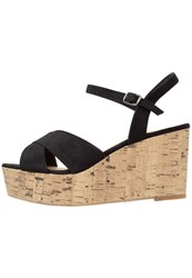 New Look Wide Fit Platform High Heeled Sandals Black
