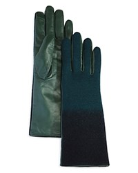 Echo Ombre Leather Tech Gloves Forest Green