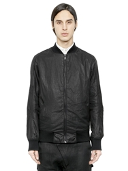 Alexandre Plokhov Coated Cotton Poplin Blend Bomber Jacket Black
