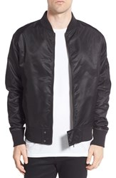 Zanerobe Men's 'Flight Bomber' Nylon Jacket Black
