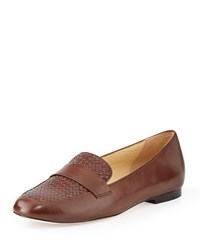 Cole Haan Dakota Woven Loafer Chestnut Brown