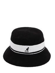 Kangol Bermuda Stripe Bucket Hat Black