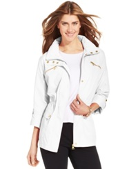 Style And Co. Sport Zip Pocket Hooded Anorak White