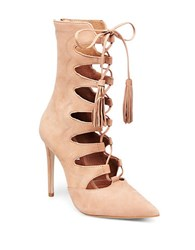 Steve Madden Piper Point Toe Stiletto Booties Tan