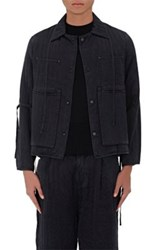 Craig Green Men's Silk Quilted Shirt Jacket Black