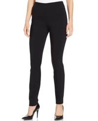 Style And Co. Tummy Control Stretch Leggings Deep Black