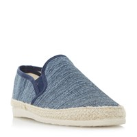 Dune Finnick Flecked Canvas Espadrille Shoes Navy