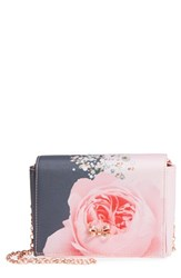 Ted Baker London Betseyy Blenheim Jewel Print Grosgrain Clutch Grey