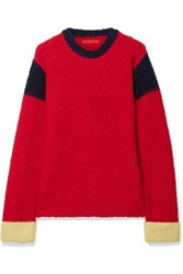 Eckhaus Latta Kermit Color Block Knitted Sweater Red